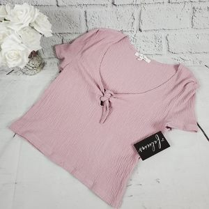 Love Tree pink crop top